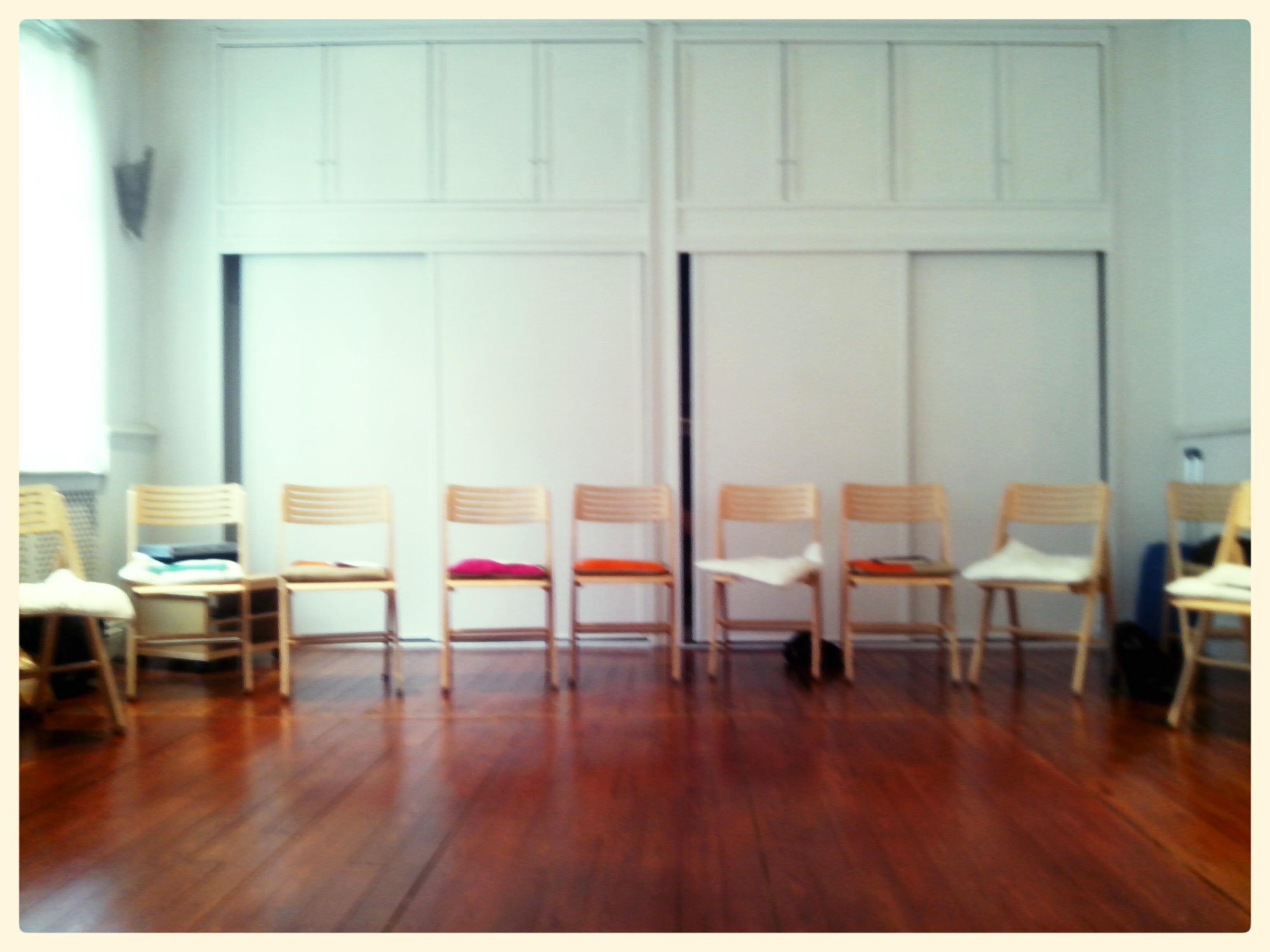 Sala del centro Loratze donde tuvo lugar el taller