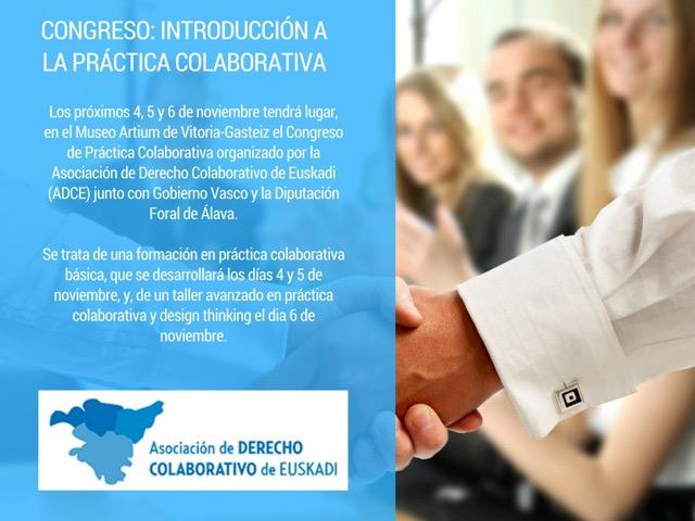 CONGRESO DE PRÁCTICA COLABORATIVA EN VITORIA-GASTEIZ